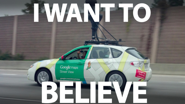 Yes, this Google Street View Driver really did flip me the bird