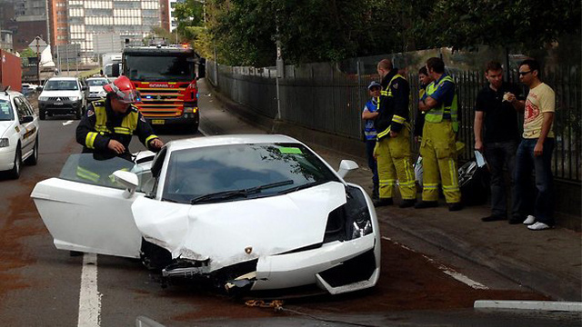 Down under Lamborghini test drive somewhat predictably ends in destruction