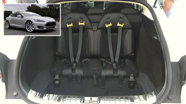 Why Tesla's Model S has jump seats from a '60s wagon