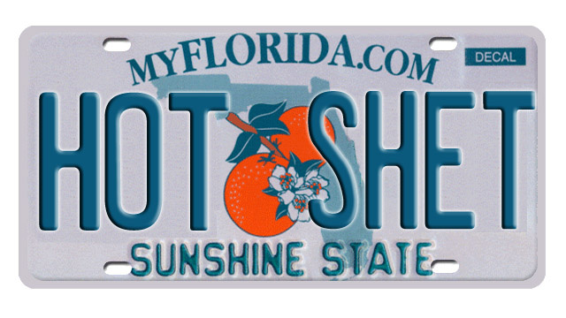 1,800 license plates banned by Florida's DMV