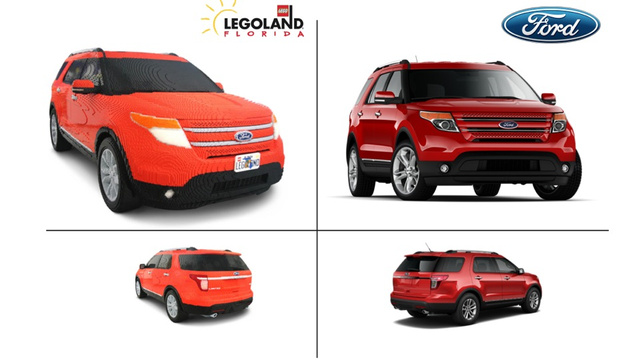 Watch a full-size Ford Explorer built out of 380,000 Legos