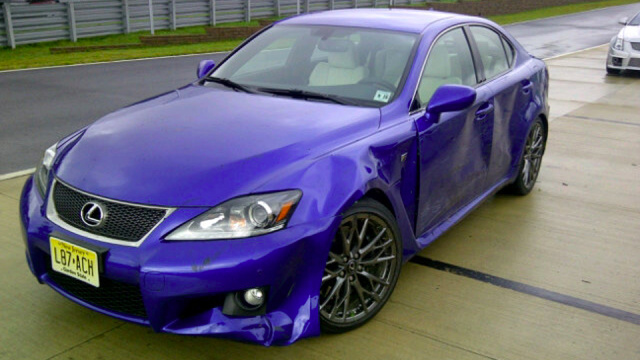 Auto journalist crashes Lexus IS F because he's an auto journalist