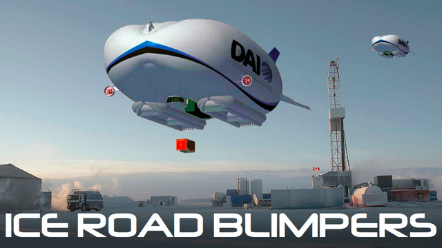The massive airship that could replace trucks in the Arctic