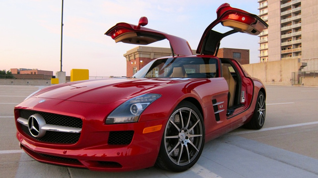 The 2011 Woodward Dream Cruise Jalopnik Staff Cruiser is the Mercedes-Benz SLS AMG