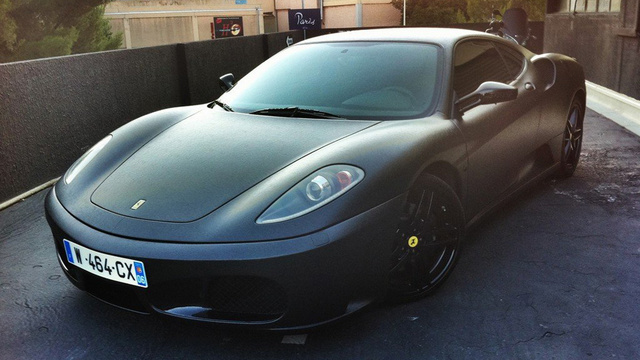 Leather wrapped Ferrari F430 is an exercise in bad taste