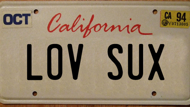 100 License Plates banned by the California DMV