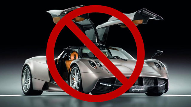 Feds block Pagani Huayra U.S. sales over air bags for kids