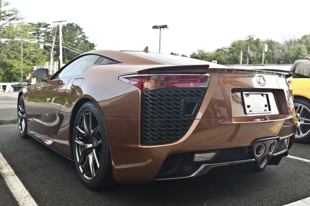 This is one brown Lexus LFA