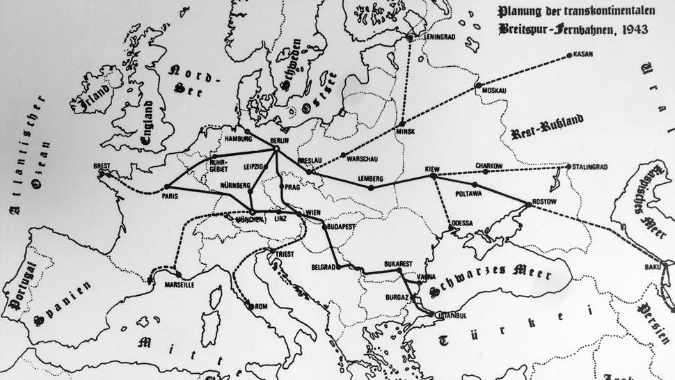 Hitler's giga-railway from Paris to the Caspian Sea