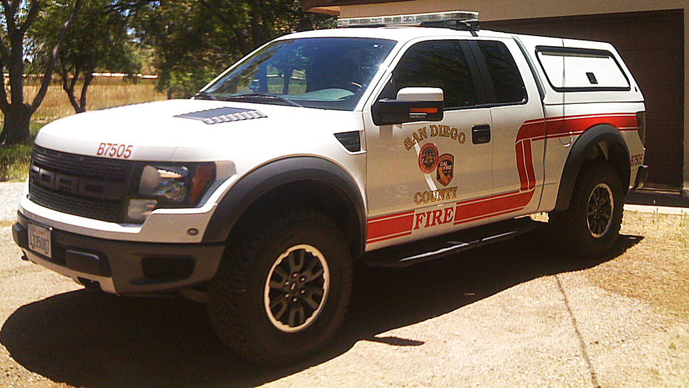 The Ford Raptor makes an awesome fire truck
