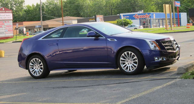 Who bought the purple people-eater edition Cadillac CTS Coupe?