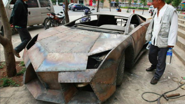 Chinese barber makes perfect fake Lamborghini