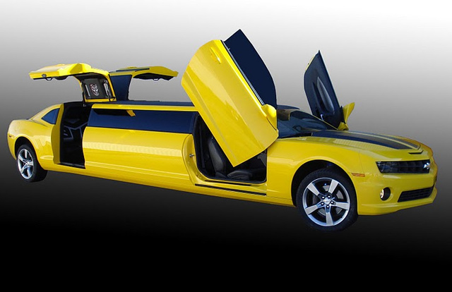 Bumblebee Camaro limo will transform your prom