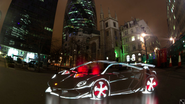 New London Light Graffiti Cars