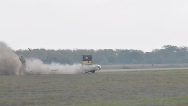 This is the Twin-Turbo Corvette crashing at 230 mph