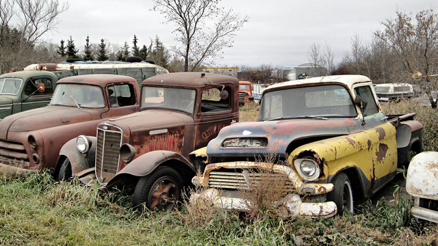 Where old Canadian trucks go to die