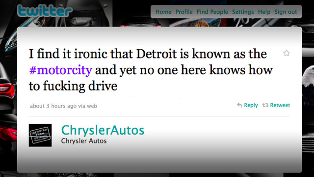 Chrysler fires firm behind Twitter F-bomb