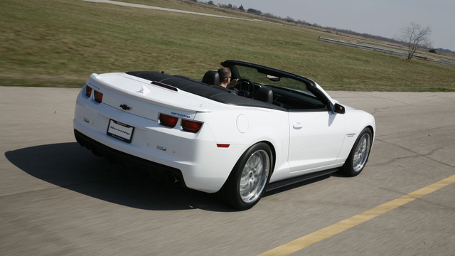 Hennessey Camaro Convertible is good for you, bad for your hairplugs
