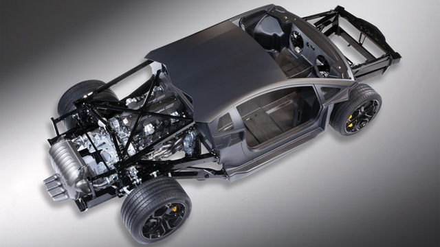 I am the Lamborghini Aventador's V12-engined rolling chassis
