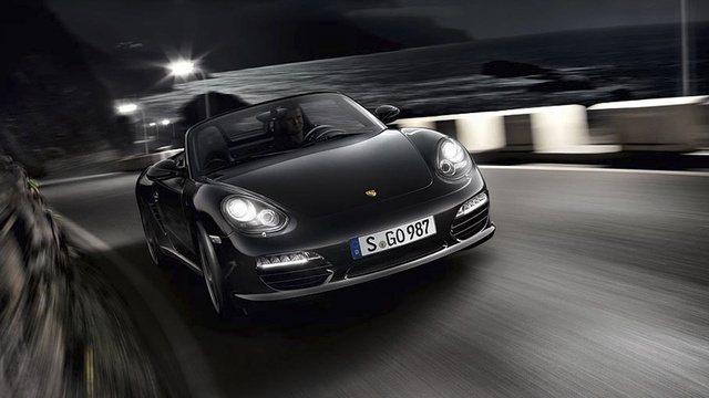 Porsche Boxster S gets put under a Black light
