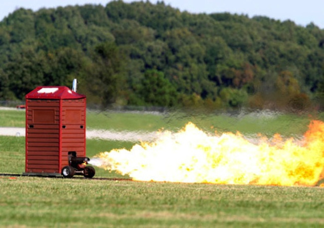 This Jet-Powered Outhouse Makes Poop Fly