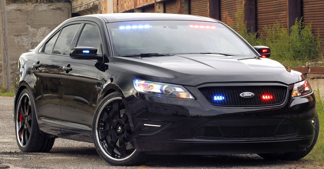 Ford Stealth Police Interceptor Is A Badass Blacked-Out Cruiser