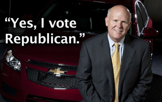 New GM CEO Criticizes Obama, Brags About Voting Republican