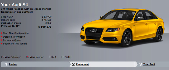 Audi Charging $46,000 For Yellow Paint