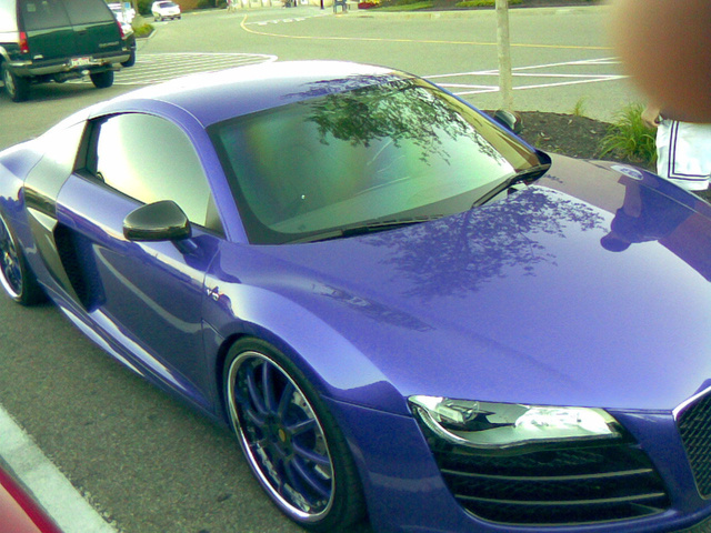 Brandon Phillips Audi R8: Purple Photos