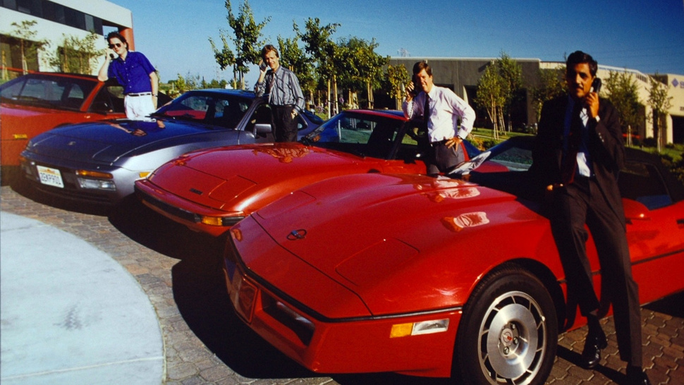 The Founders Of Sun Microsystems, Their Cars, And Their Giant Phones