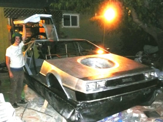 Student Builds DeLorean Hovercraft By Hand