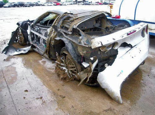 Tornado Wrecks $120,000 Corvette ZR1