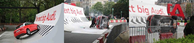 Audi A1 Marketing Stunt Fail