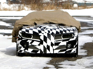 Firebird And Ice! Camo-Covered Trans Am Camaro Conversion Caught In Snow