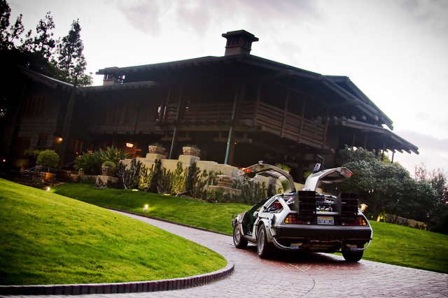 Back To The Future DeLorean: Gamble House Photo Shoot