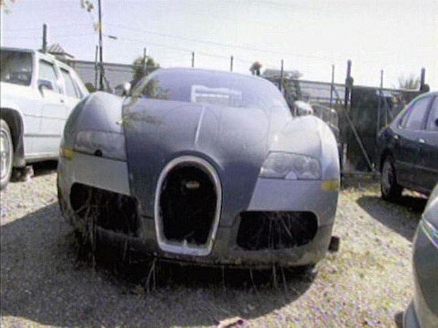 Bugatti Veyron: Lake Crash Photo Gallery
