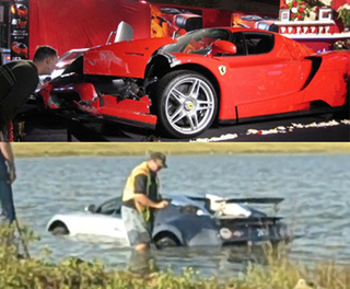 EXCLUSIVE: Bugatti Lake Crash Driver Owns Infamous Eddie Griffin-Crashed Ferrari Enzo