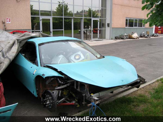 Wrecked Ferrari 458 Italias Hide Shame Under Tarps