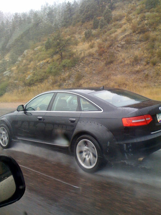 2012 Audi RS4 Spotted With Huge Fenders, Maybe