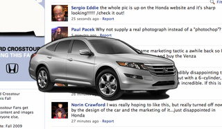 Honda Responds To Facebook Crosstour Hatefest