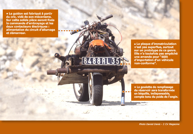 The 2CV Based Desert Bike of Emile Leray