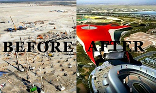Time-Lapse Gallery Of Abu Dhabi's Nearly-Completed Ferrari World Theme Park