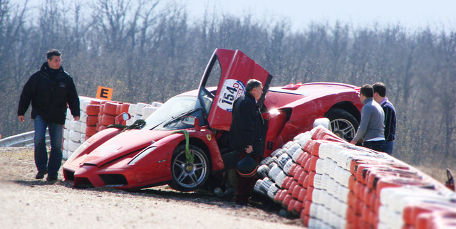 Ferrari Enzo Crashes During Rallye De Paris