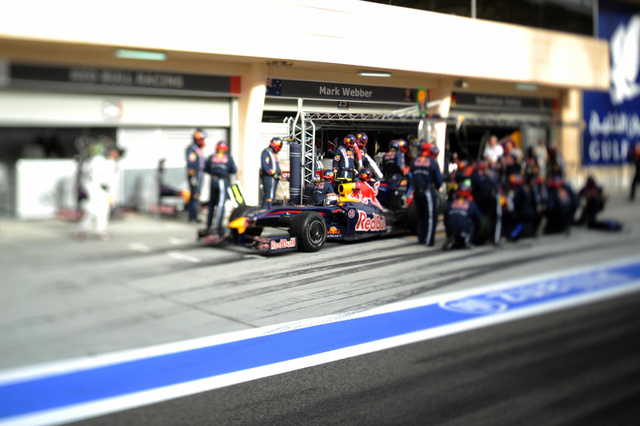 Formula One Through Tilt-Shift Lenses
