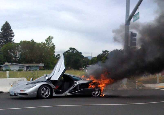 $2 Million McLaren F1 Self-Immolates In Sickening Conflagration