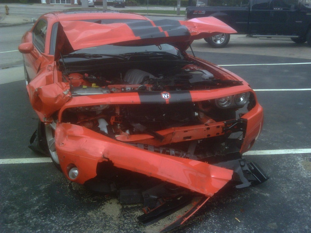 This Is What A Totaled Dodge Challenger Looks Like