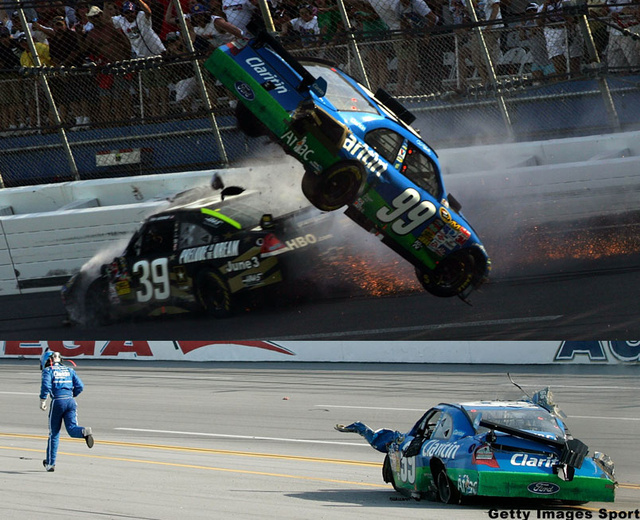 Carl Edwards Real-Life Talladega Nights NASCAR Crash: Video, Gallery
