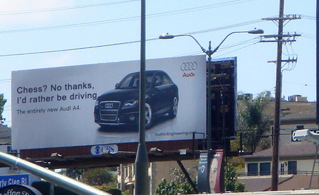 BMW Vs. Audi: Jalopnik Readers Turn Billboard Cold War Hot!