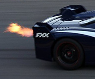 Ferrari FXX Under Some Seriously Hard Braking