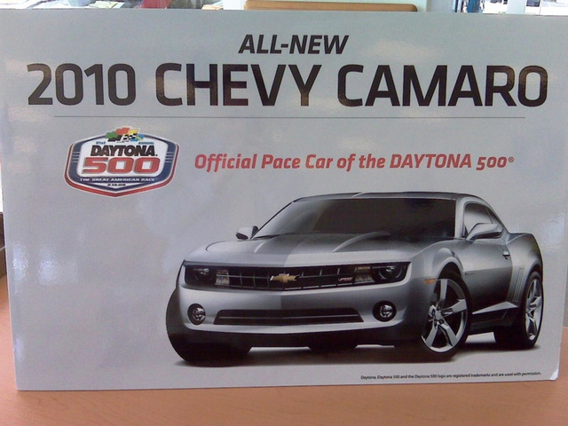 2010 Chevy Camaro: Official Pace Car Of Daytona 500, Unofficially